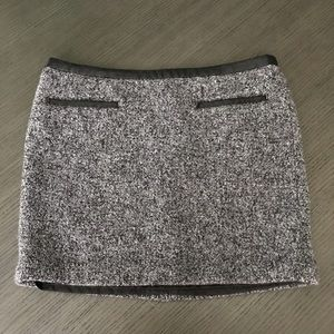GAP gray wool mini skirt